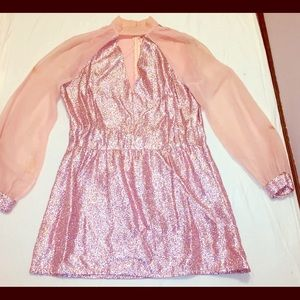 Dresses & Skirts - VINTAGE Sparkly Pink 60's Dress/Costume!! OOAK!!